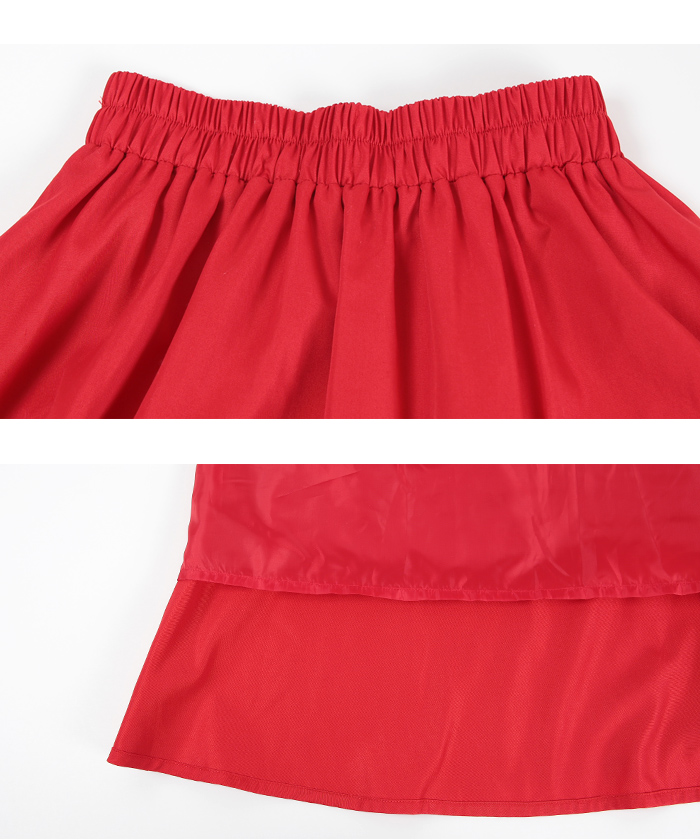 カラータックフレアスカート15