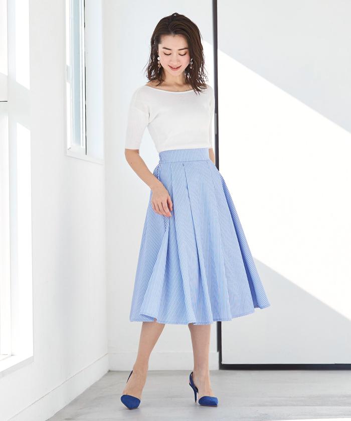 カラータックフレアスカート1