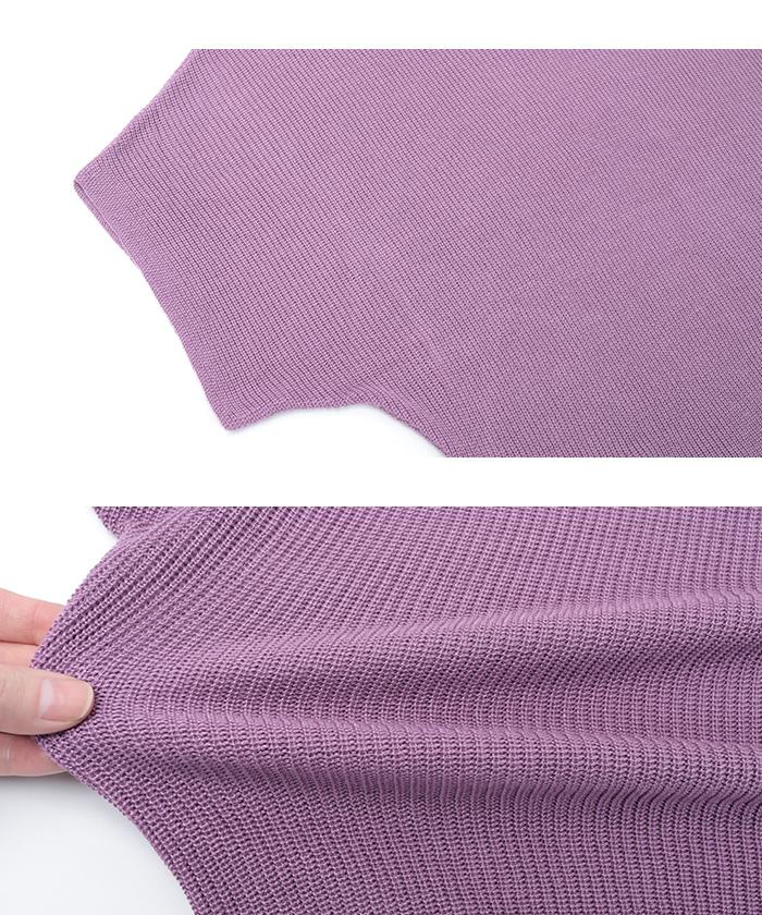 リブ編みオーバーサイズニット15