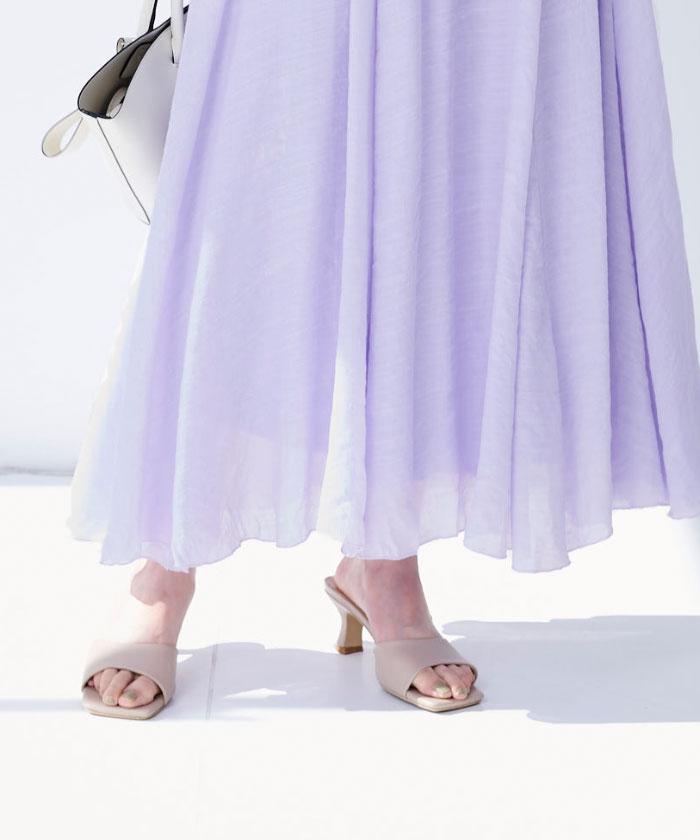 スラブボリュームマキシスカート4