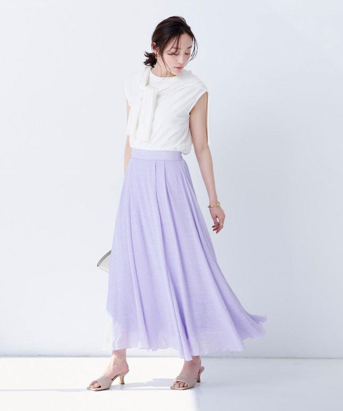 スラブボリュームマキシスカート1