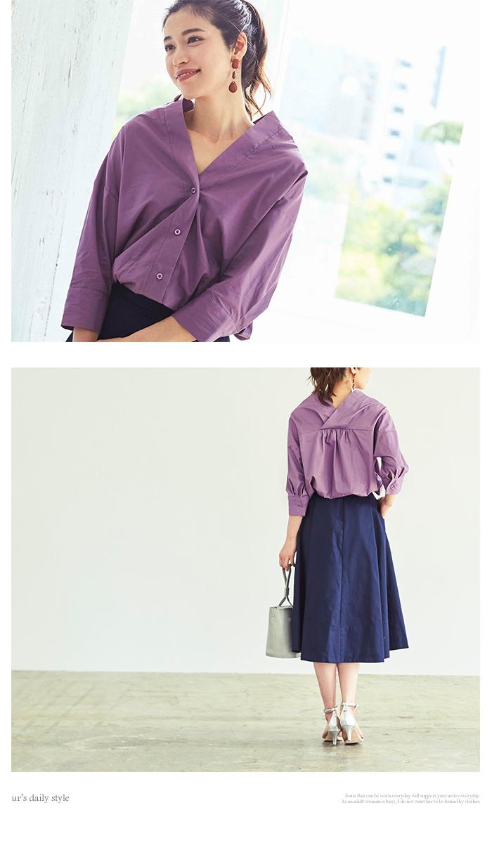 抜け襟オーバーシャツ2
