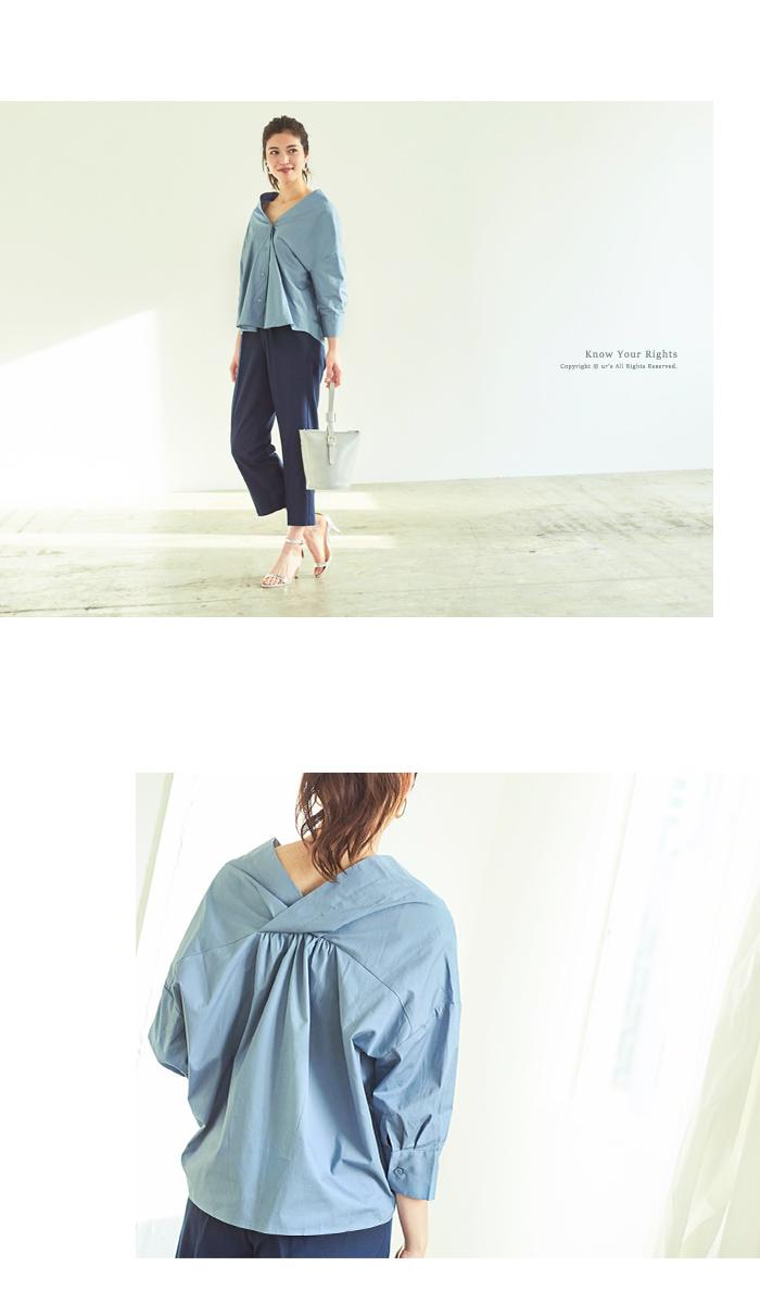 抜け襟オーバーシャツ6