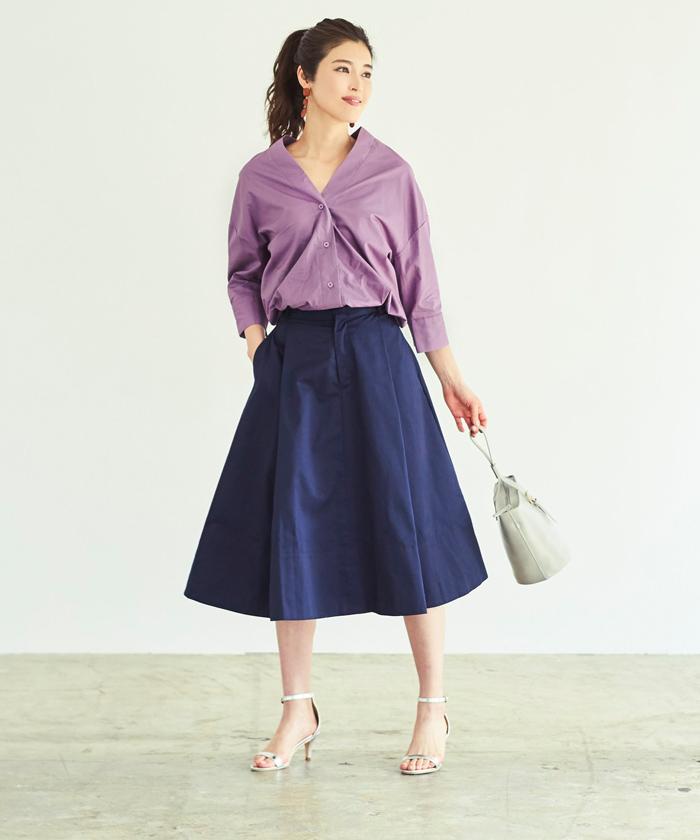 抜け襟オーバーシャツ1