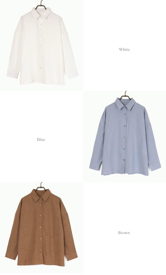 リネンライクワイドシャツ13