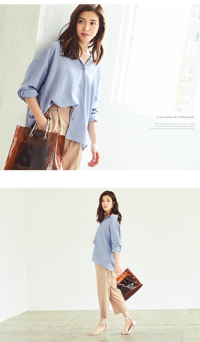 リネンライクワイドシャツ2