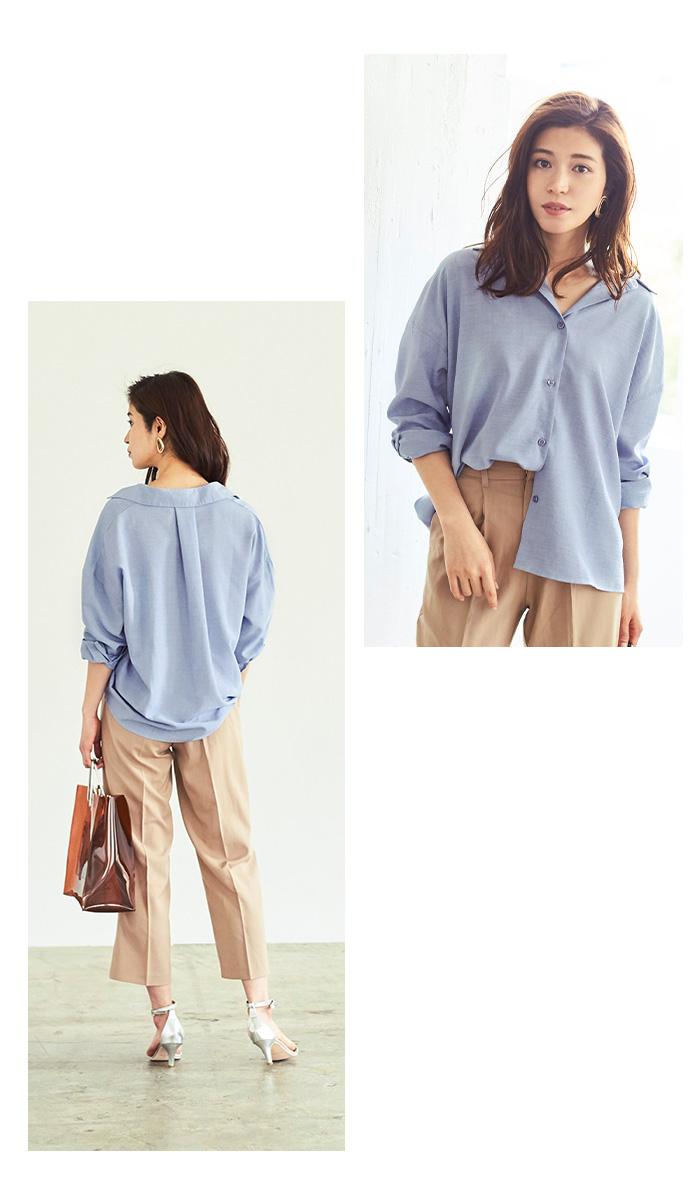 リネンライクワイドシャツ3