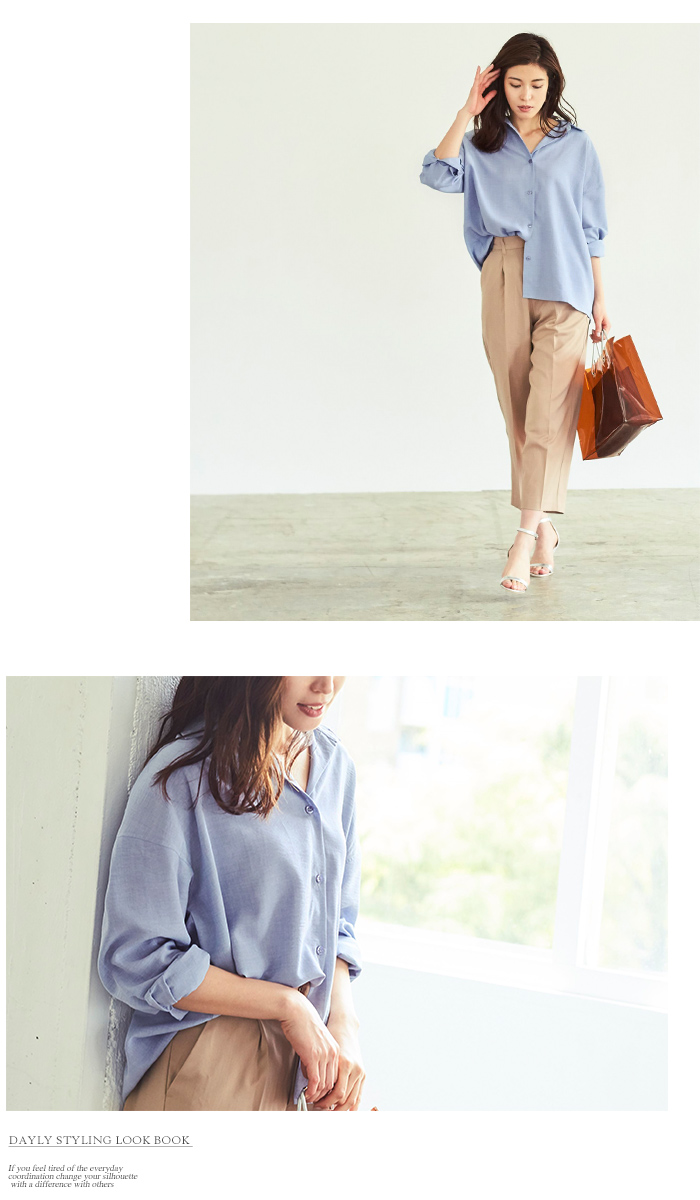 リネンライクワイドシャツ4