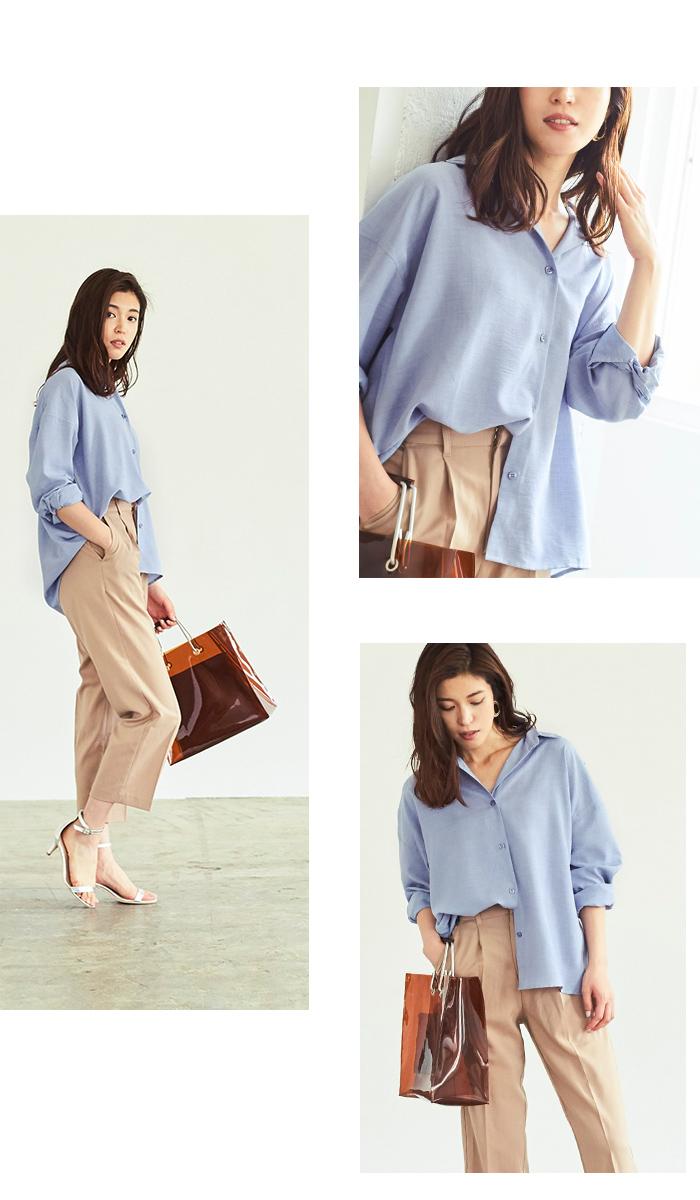 リネンライクワイドシャツ6