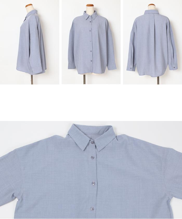 リネンライクワイドシャツ14