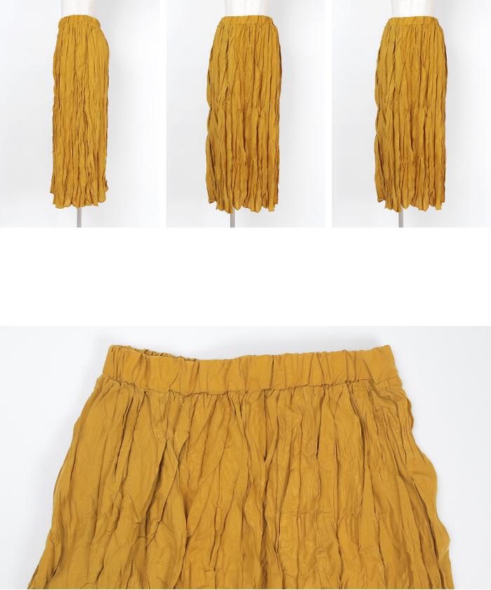 スパンブロードワッシャープリーツマキシスカート14