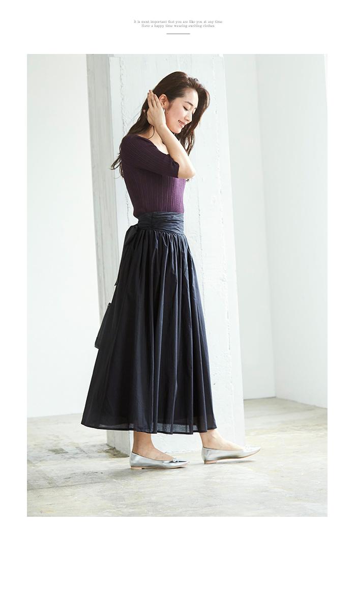 バックリボンギャザースカート11