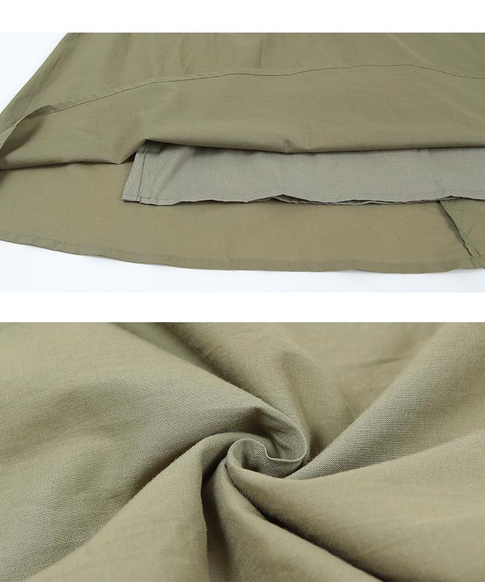 バックリボンギャザースカート16