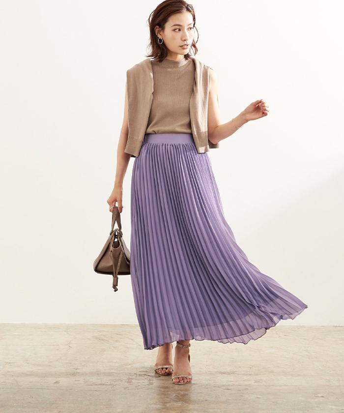 ミモレ丈プリーツスカート5