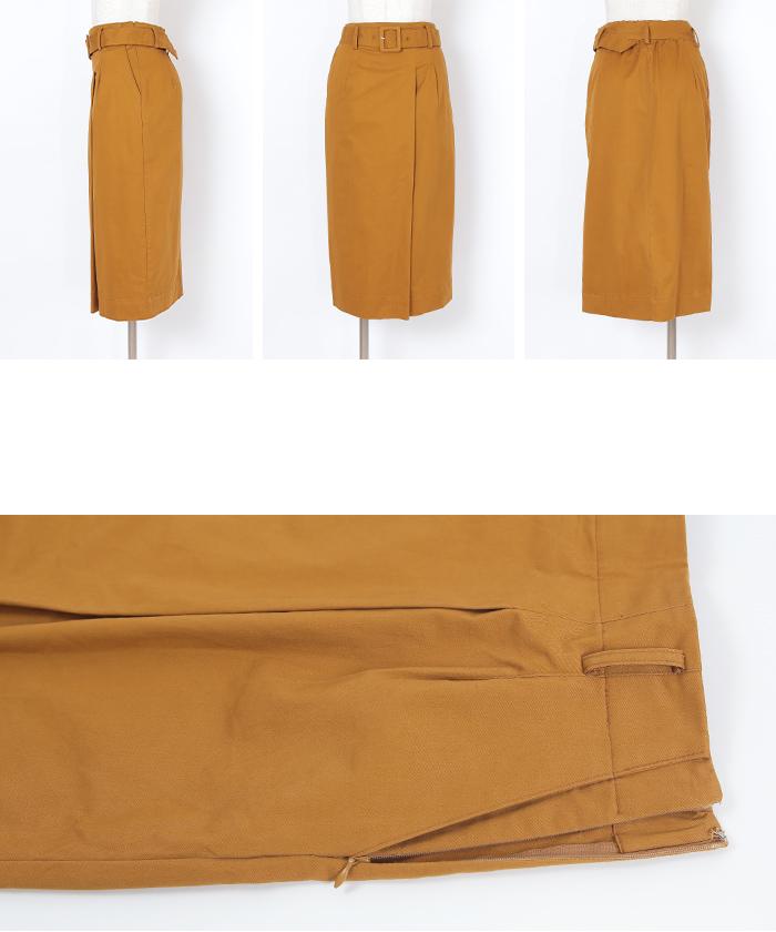 ベルト付ラップスカート14