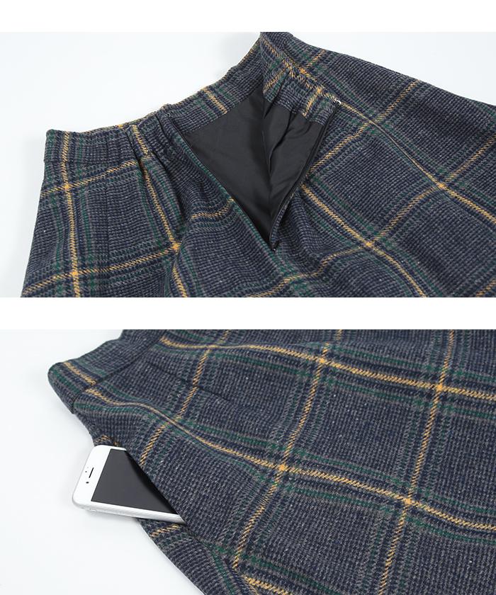チェックフレアスカート15