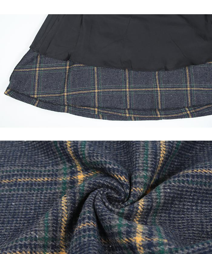 チェックフレアスカート16
