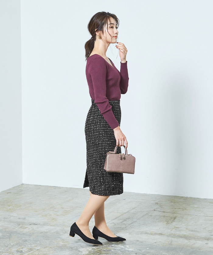 ツイードタイトスカート11