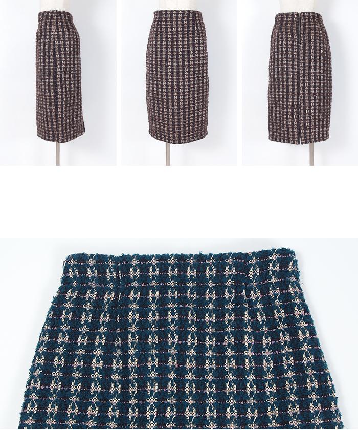 ツイードタイトスカート14