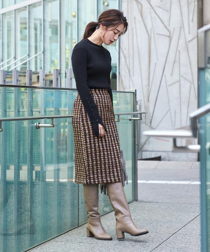 ツイードタイトスカート1