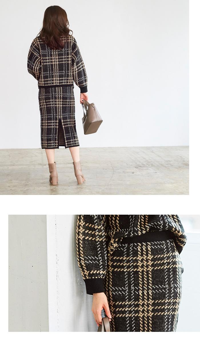 チェックニットタイトスカート6
