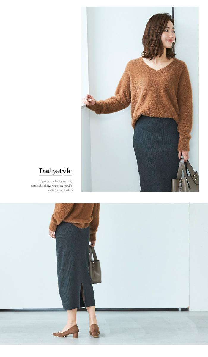 リブニットタイトスカート6