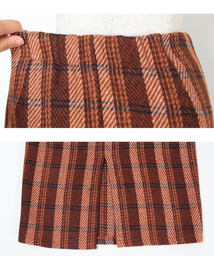 タータンチェックロングタイトスカート15
