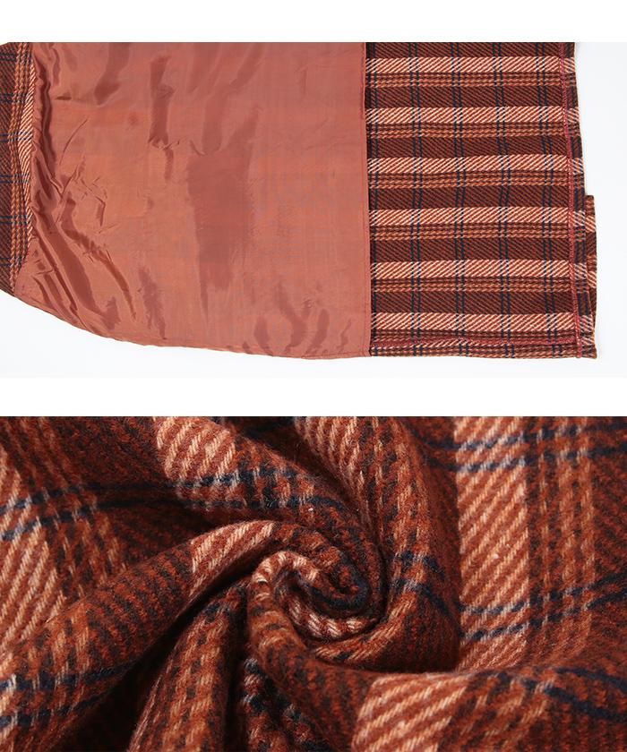 タータンチェックロングタイトスカート16