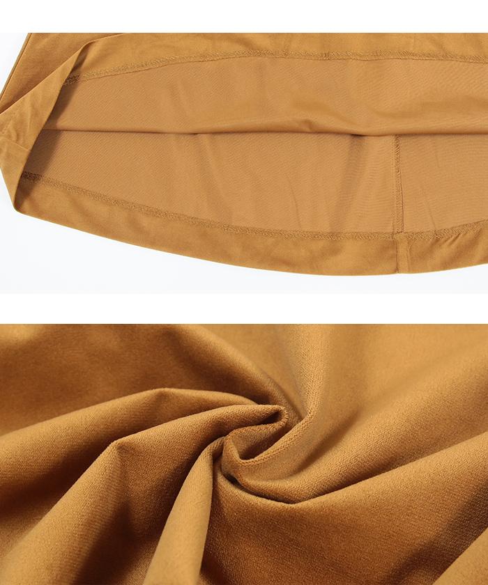 カラーフレアロングスカート16