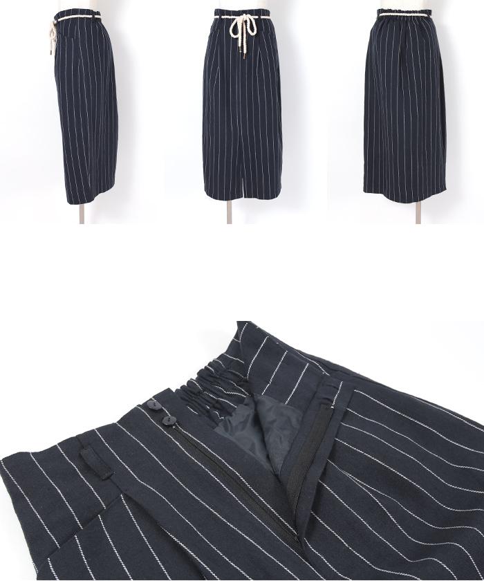 ストライプタイトスカート14