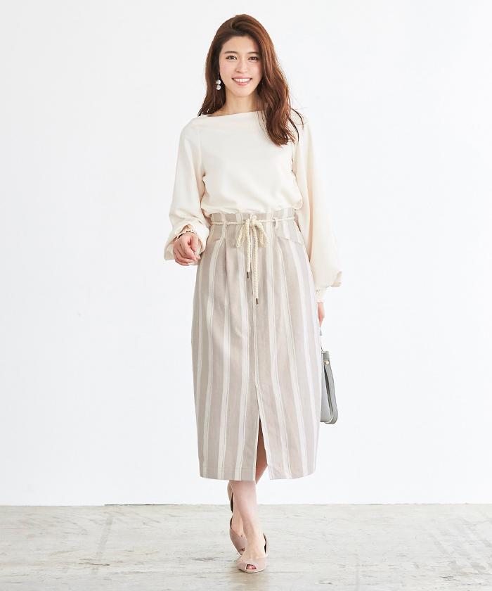 ストライプタイトスカート1