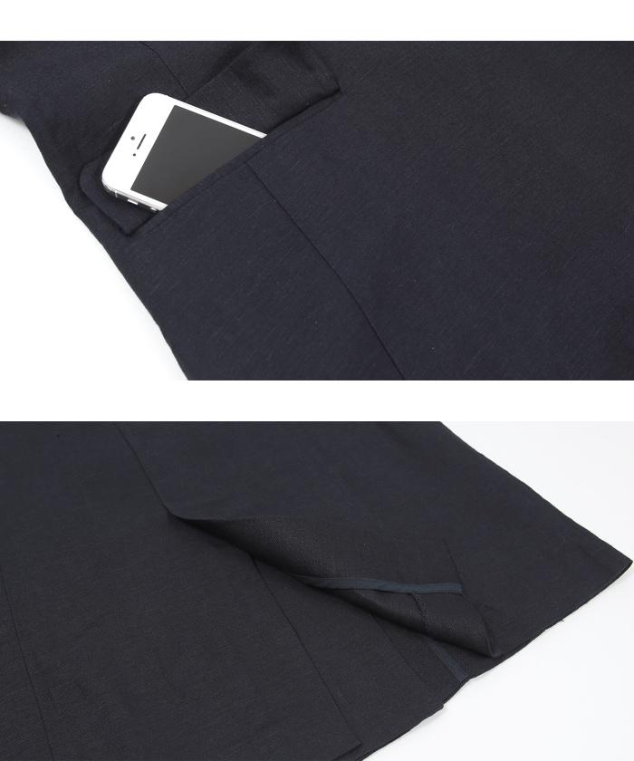 リネン混テーラードジャケット15
