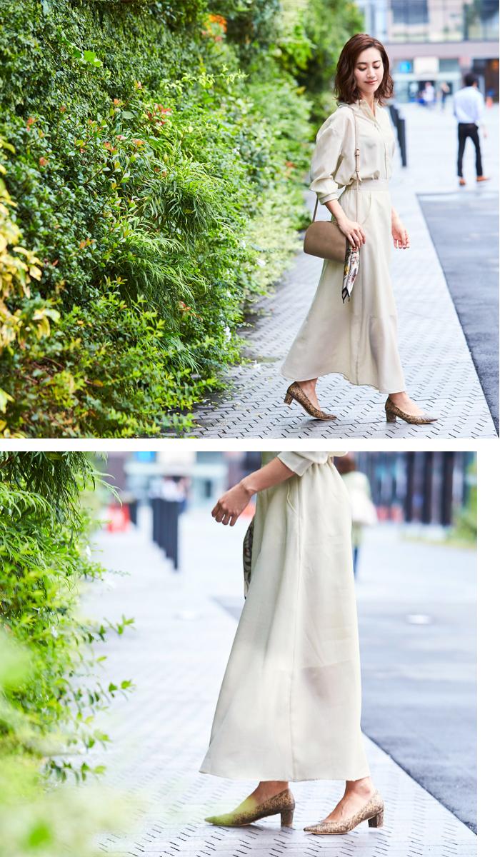 リネンライクシャツ×スカートセットアップ5