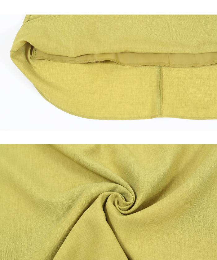 リネンライクシャツ×スカートセットアップ15