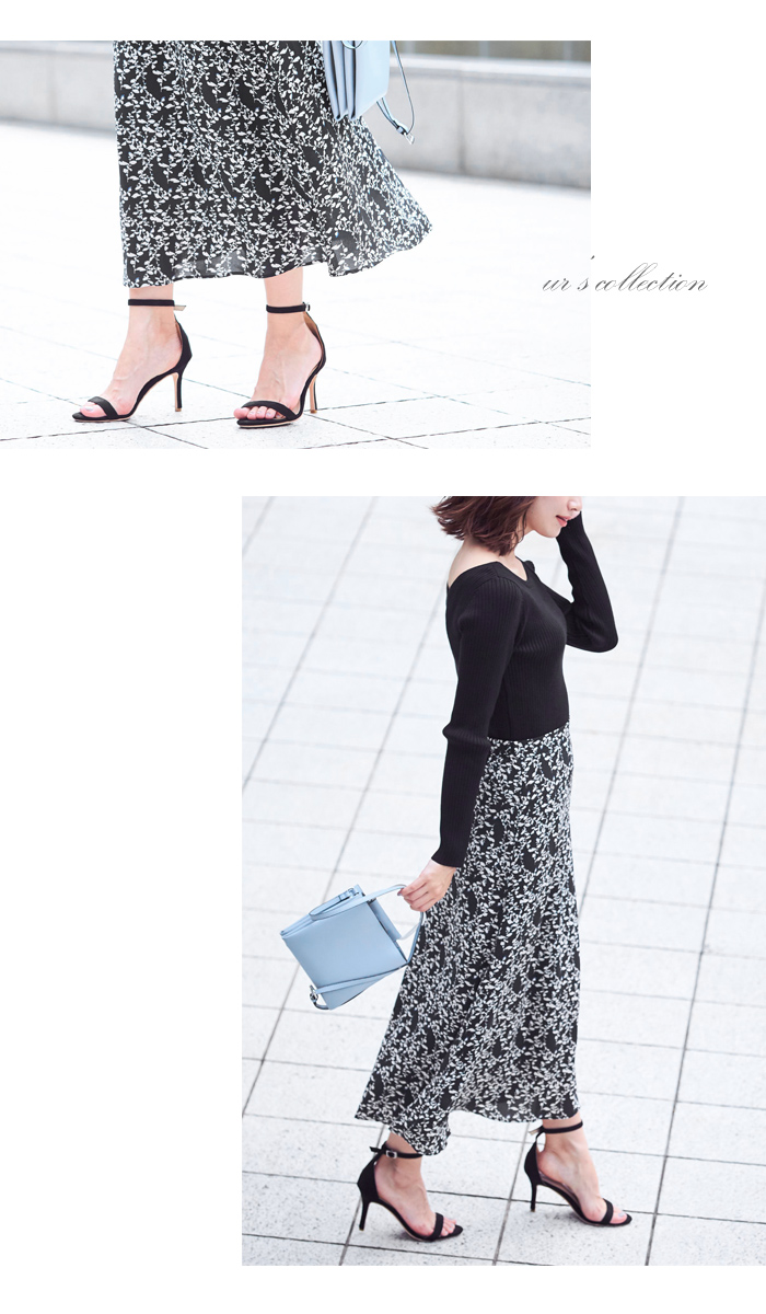 花柄Aラインスカート2