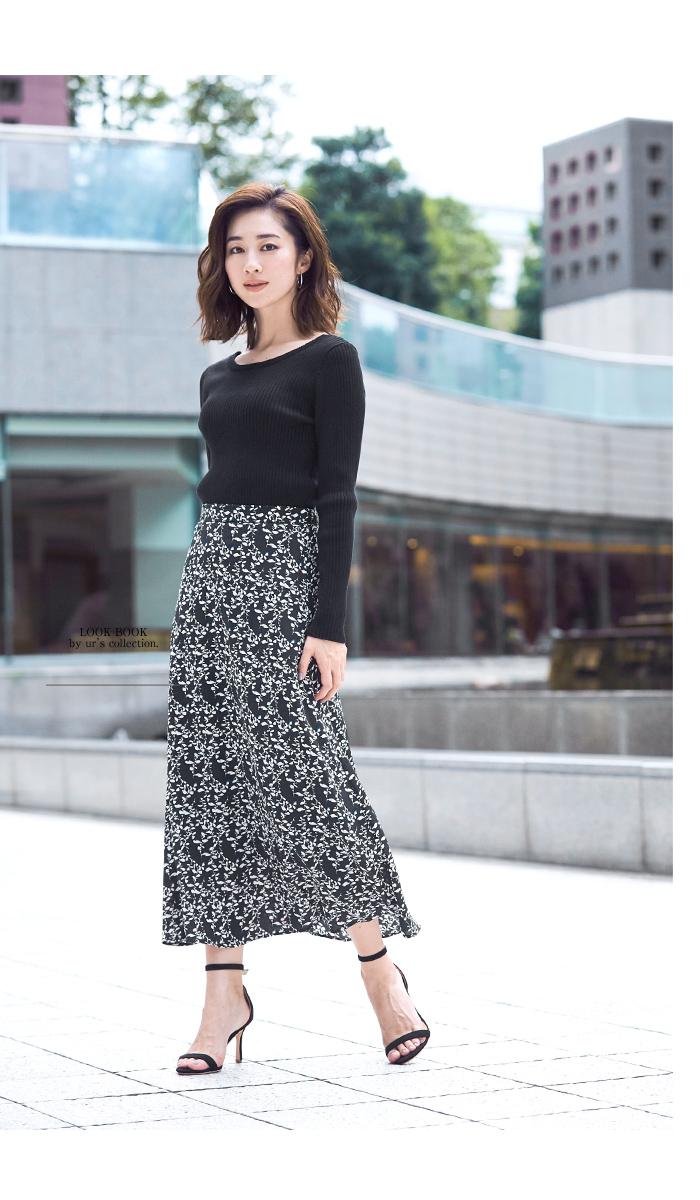 花柄Aラインスカート3