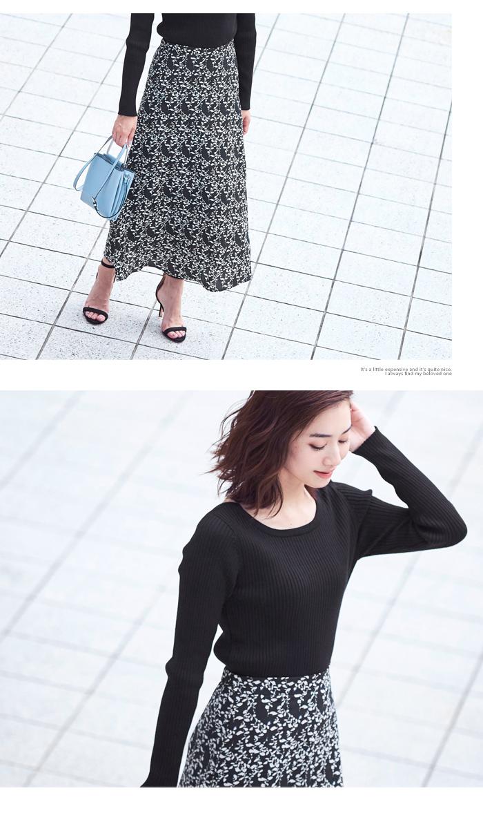 花柄Aラインスカート4