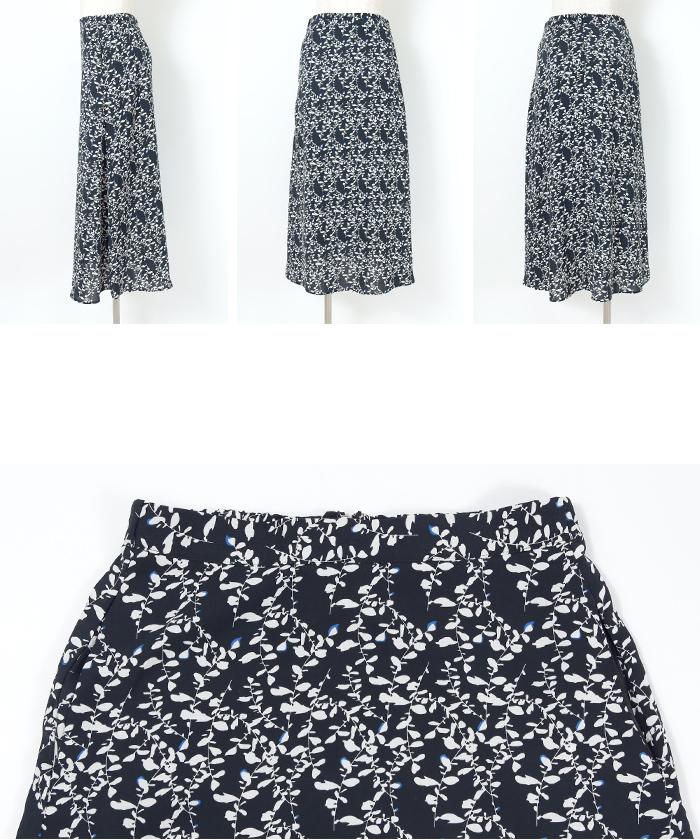 花柄Aラインスカート14