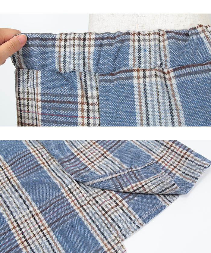 ラップ風チェックタイトスカート15