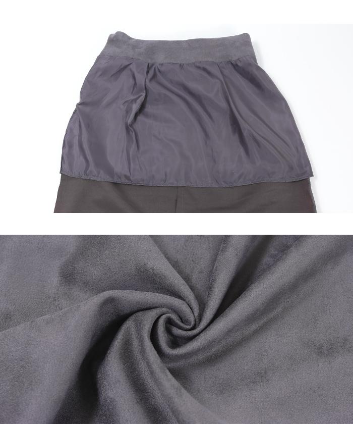 フェイクスエードタイトミディアムスカート16