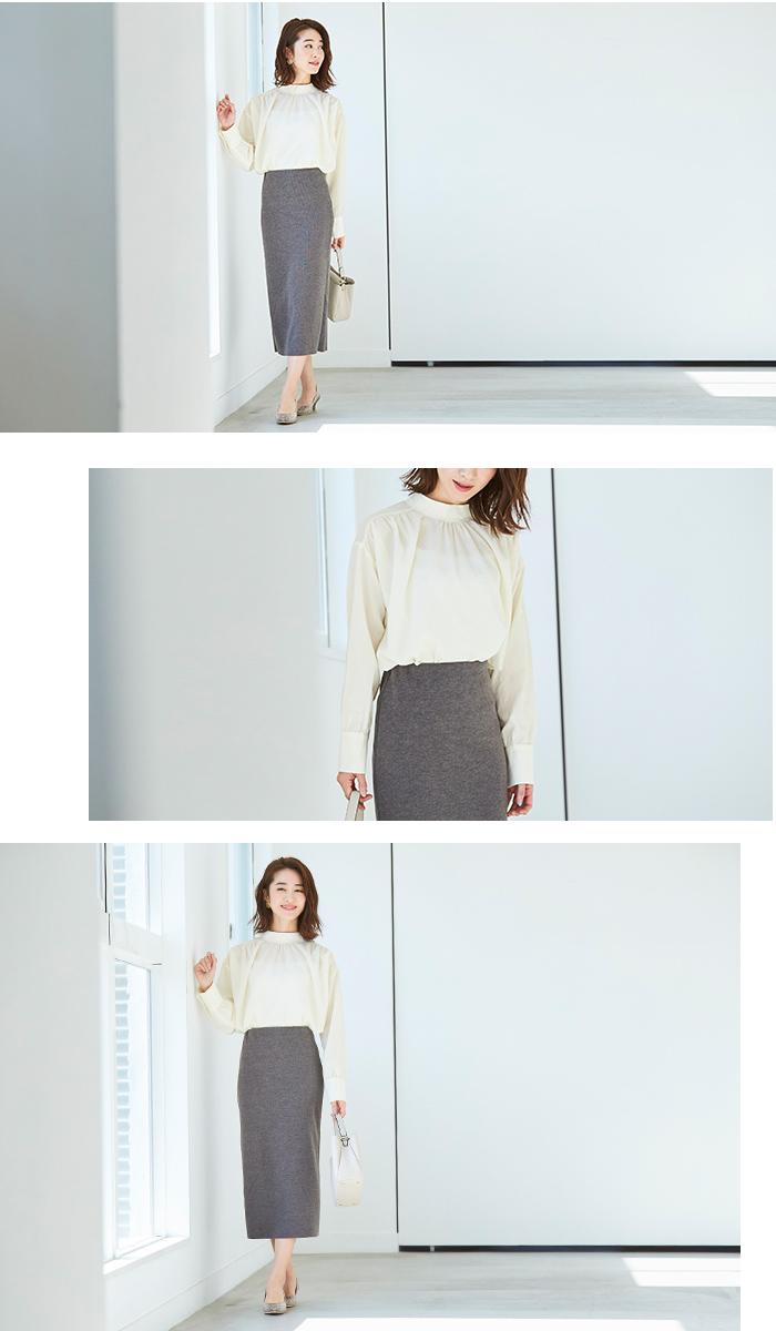 ウールボンディングロングタイトスカート4