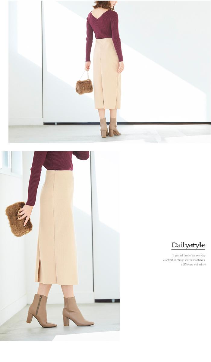 ウールボンディングロングタイトスカート11