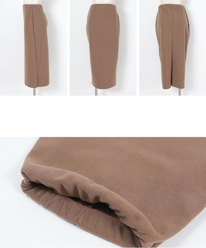 ウールボンディングロングタイトスカート14