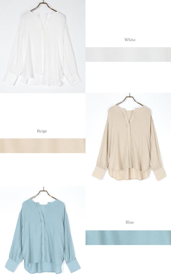 スリットネックシャツ15