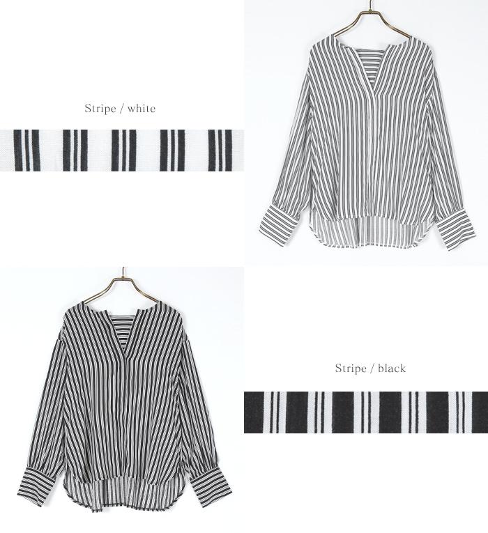 スリットネックシャツ13