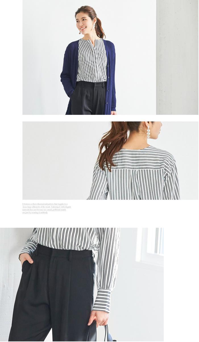 スリットネックシャツ4
