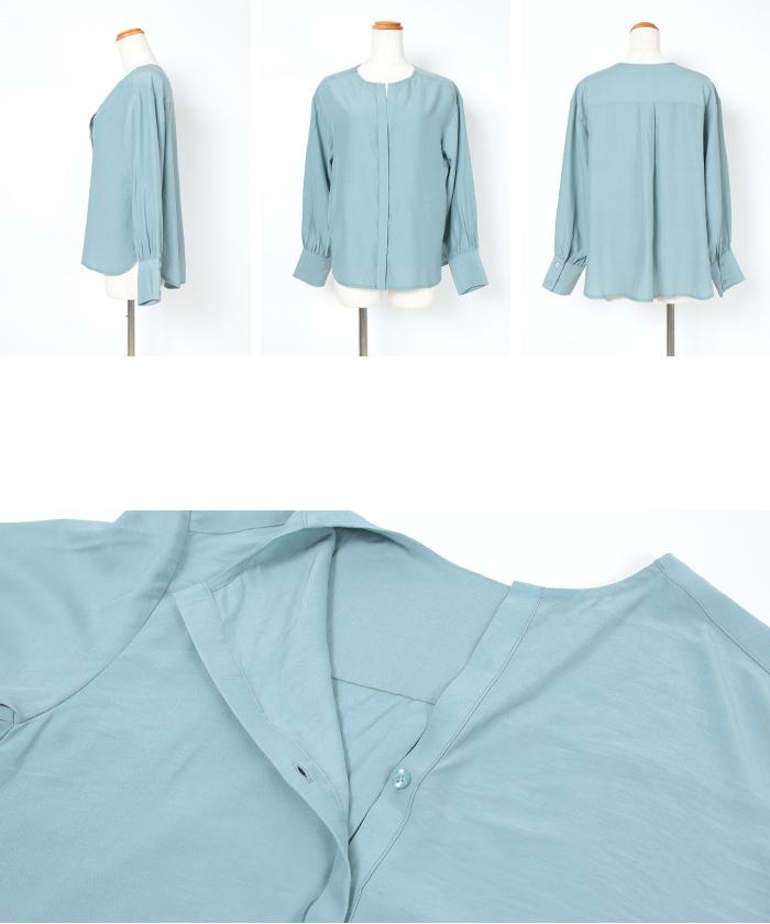 スリットネックシャツ14