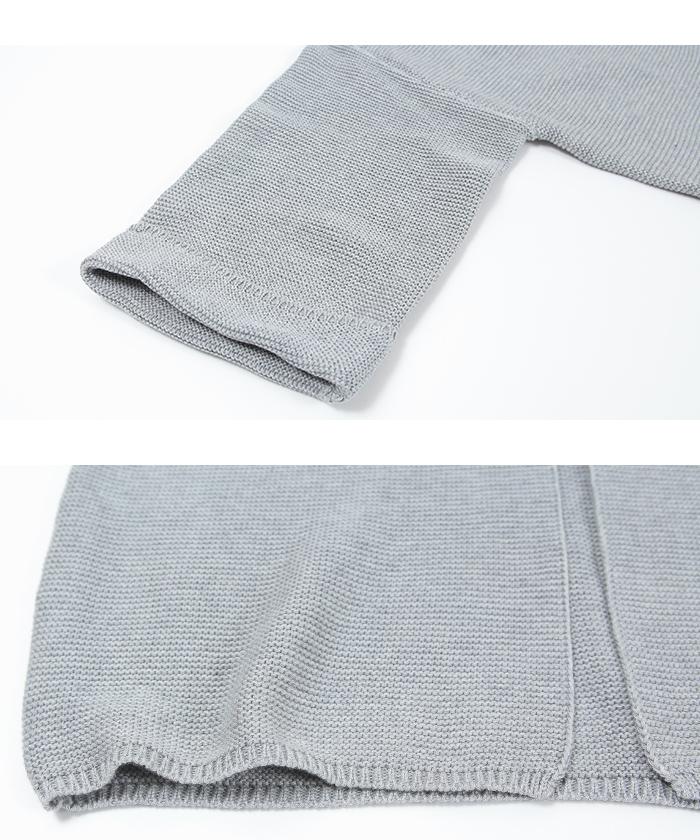 パール編みワイドスリーブカーディガン15