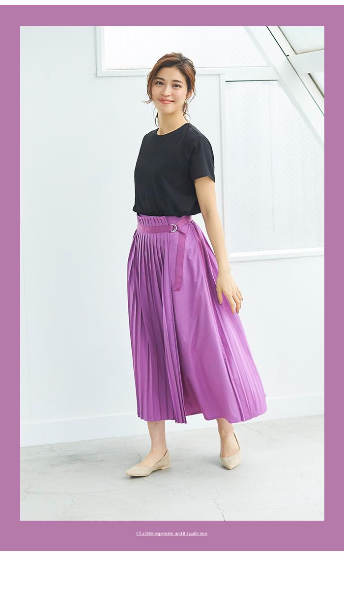 プリーツラップロングスカート6