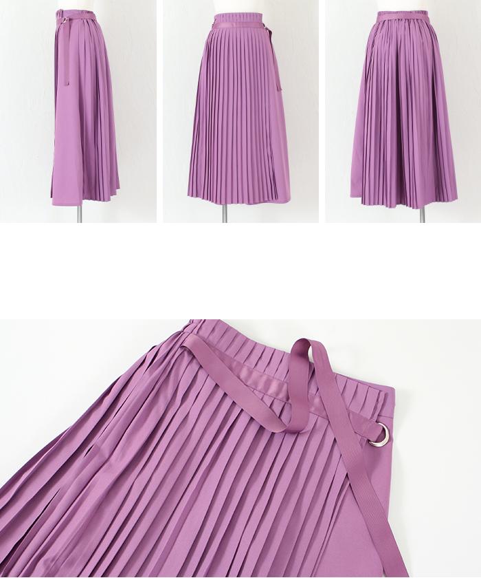 プリーツラップロングスカート14